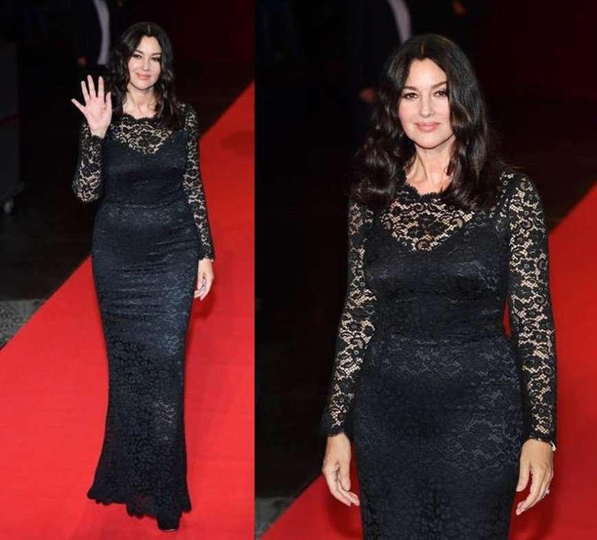 Моника Беллуччи появилась на светском приеме в кружевном платье
