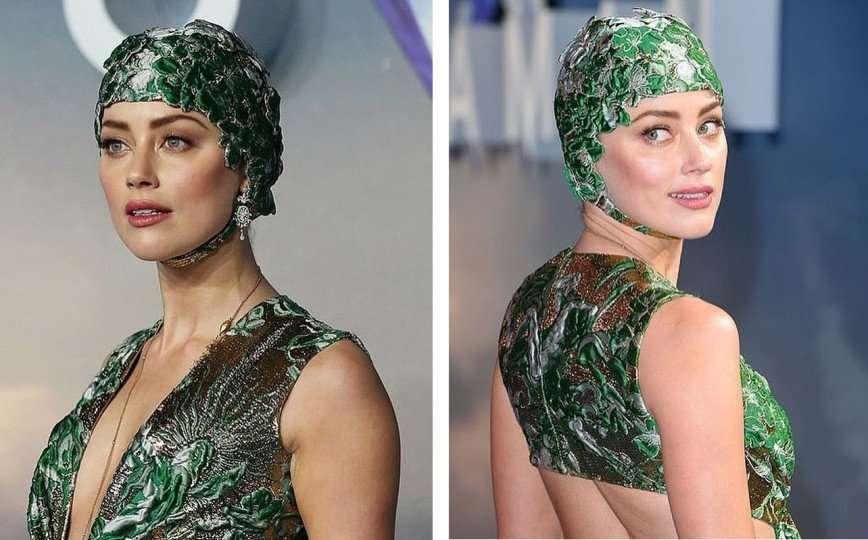 Эмбер Херд нарядилась на премьеру «Аквамена» в сногсшибательное платье