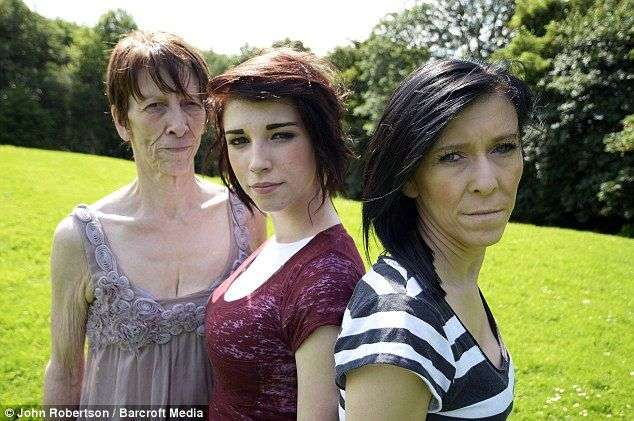 16-летняя девушка выглядит на 60